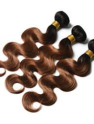 cheap -Ishow 4 Bundles Human Hair Weaves 8A Quality Hair Color Body Wave 1B 30# Hair Curtain 100% Human Peruvian Wig 4 Pieces Combination Set 10-24 Inch Hair Extensions