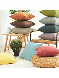 cheap -japanese and korean minimalist cotton and linen texture texture plain color pillowcase solid color fabric sofa cushion cover new product wholesale