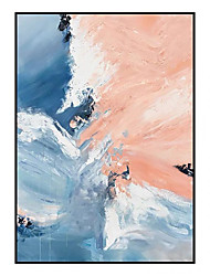 cheap -Oil Painting Handmade Hand Painted Wall Art Modern Pink and Blue Abstract As Gift Home Decoration Decor Rolled Canvas No Frame Unstretched