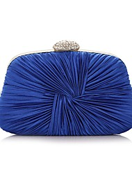 cheap -Women's Bags Polyester Evening Bag Chain Party / Evening Chain Bag Purple Almond Silver Royal Blue