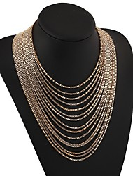 cheap -Chain Necklace Layered Necklace Women's Fashion Classic Lovely Wedding Silver Gold 64 cm Necklace Jewelry 1pc for Gift Festival