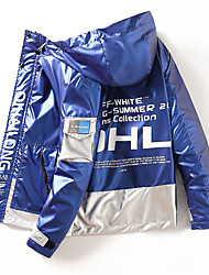 cheap -Men's Jacket Street Daily Fall Winter Regular Coat Zipper Hoodie Regular Fit Thermal Warm Windproof Breathable Casual Jacket Long Sleeve Color Block Pocket Blue Black Silver