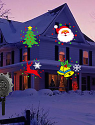 cheap -Christmas Projector Lights Round Decoration Light LED Night Light Waterproof Remote Controlled Creative Remote Control Halloween Christmas AC Powered 1pc