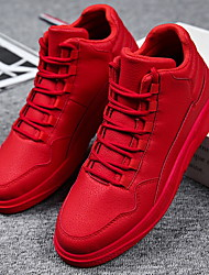cheap -Men's Trainers Athletic Shoes Casual Athletic PU Red Black Fall