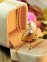 cheap -Pendant Necklace Long Necklace Charm Necklace Women's Geometrical Zircon Precious Fashion Lovely Wedding Gold 65 cm Necklace Jewelry 1pc for Christmas Wedding Street Gift Daily Geometric