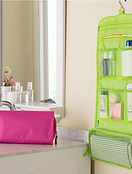 cheap -Solid Color Three Fold Wash Bag Can Be Hung With Waterproof Wash Bag And Large Capacity Shower Storage Bag