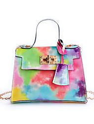 cheap -Women's Bags PU Leather Crossbody Bag Chain Print Vintage Daily Date Handbags Purple Blushing Pink Green Black