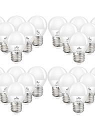 cheap -24pcs 6 W LED Globe Bulbs 550 lm E27 G45 20 LED Beads SMD 2835 Decorative Warm White Cold White 220-240 V 110-130 V