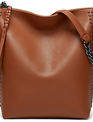 cheap -Women's Bags PU Leather Crossbody Bag Rivet Plain Daily Going out Retro Tote Handbags Almond Green Black Brown