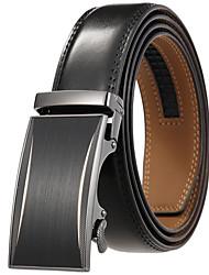 cheap -Men's Waist Belt Daily Black Brown Belt Pure Color