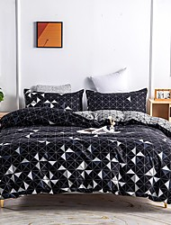 cheap -Geometric Printed 3-Pieces Duvet Cover Set Hotel Bedding Sets Comforter Cover, Include 1 Duvet Cover, 2 Pillowcases for Queen/King(1 Pillowcase for Twin)