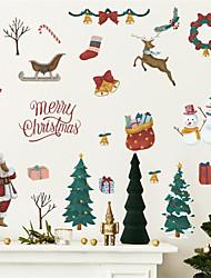 cheap -Cartoon Santa Claus Christmas Tree Snowman Glass Cabinet Window Wall Decoration Wall Stickers Self-adhesive 83*60cm