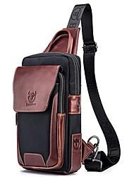 cheap -Men's Bags Genuine Leather Cowhide Sling Shoulder Bag Formal Work Black leather blue Brown Blue Black