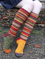 cheap -Fashion Comfort Women's Socks Striped Christmas Stockings Socks Medium Christmas Multi color 1 Pair / Casual Socks