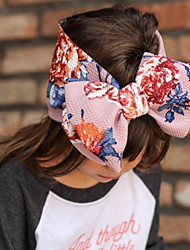 cheap -1pcs Kids Girls' Active / Sweet Daily Wear Floral / Color Block Bow / Print Hair Accessories Blushing Pink