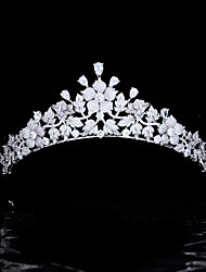 cheap -Exquisite And Small Zircon Bridal Tiara Wedding Crown High-end Wedding Hair Accessories