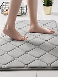 cheap -The Geometric Embossing Coral Velvet Bathroom Bedroom Rug Solid Colors High-Quality Floor Mats Sponge Non-Slip Bath Mat