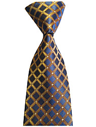cheap -Men's Party / Wedding / Gentleman Necktie - Plaid Formal Style / Classic / Holiday