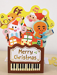 cheap -taiwan creative diy baby christmas eve blessing pop-up card christmas greeting card gift party dancing greeting card