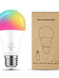 cheap -1pc 10 W LED Smart Bulbs 1050 lm E27 A60(A19) 34 LED Beads SMD APP Control Smart Timing RGB+Cold&Warm White 85-265 V