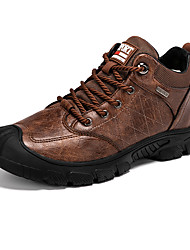 cheap -Men's Trainers Athletic Shoes Daily PU Black Brown Fall Winter