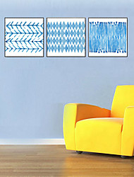 cheap -3 Panels Wall Art Canvas Prints Painting Artwork Picture Abstract Blue Home Decoration Dcor Rolled Canvas No Frame Unframed Unstretched