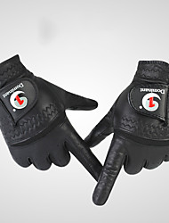 cheap -Golf Glove Golf Full Finger Gloves Men's Anti-Slip UV Sun Protection Breathable Sheep Leather Lambskin Leather Outdoor Black / Sweat wicking