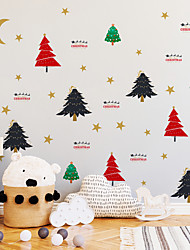 cheap -Christmas Children's Room Decoration Sticker Waterproof Christmas Tree Self-adhesive DIY Wall Sticker