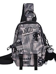 cheap -Men's Bags Oxford Cloth Nylon Sling Shoulder Bag Zipper Geometric Daily Outdoor Tote Bum Bag Yellow Blushing Pink Gray Khaki