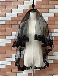 cheap -1 Piece Halloween Headdress Photo Studio Photo Styling Hair Accessories Black Lace Veil Wedding Dress With Comb Wedding Accessories Veil