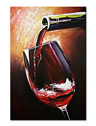 cheap -Oil Painting Handmade Hand Painted Wall Art Mintura Abstract Wine Glass For Home Decoration Decor Rolled Canvas No Frame Unstretched