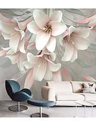 cheap -Mural Wallpaper Wall Sticker Covering Print  Peel and Stick  Removable Self Adhesive Plant Flowers PVC / Vinyl Home Decor