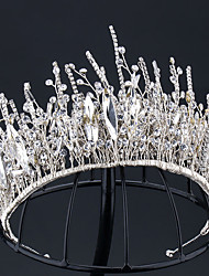 cheap -Handmade Rhinestone Shadow Branch Korean Bridal Wedding Accessories Rhinestone Claw Chain Crown Wedding Jewelry