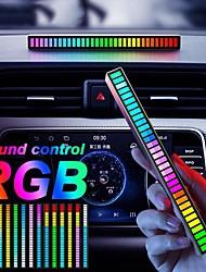 cheap -RGB Sound Reactive LED Light Bar Sound Control Light32 Bit Music Level Indicator Creative Colorful Sound Control Ambient Light Voice-Activated Pickup Rhythm Light for Party Car Light Desktop