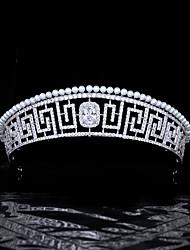 cheap -Vintage Round Pattern Pearl Headdress European And American Royal Princess Crown Bride Married Zircon Crown Wedding Jewelry
