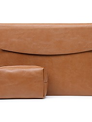 cheap -Laptop Sleeve Bag For Macbook Air Pro 13 11 12 13.3 15 Notebook Cover For XiaoMi Huawei Matebook PU Leather Waterproof Laptop Case with Storage Bag