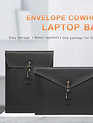 cheap -13.3 Inch PU Leather Laptop Sleeve for MacBook Envelope Design Waterpoof Shock Proof Notebook Sleeve Bag
