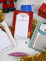 cheap -Stationery Student Notepad Office Notebook Christmas Decoration Board Clip Memo Pad Set 14.5X21.7cm