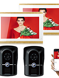 cheap -SYSD Wired & Wireless Photographed / Recording 9.7 inch Hands-free Two to Two video doorphone