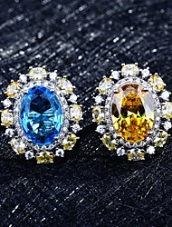 cheap -Ring Mismatched Yellow Blue Copper Silver Plated Artistic Fashion Punk 1pc Adjustable / Women's / Open Cuff Ring / Open Ring / Adjustable Ring