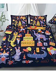 cheap -Print Home Bedding Duvet Cover Sets Soft Microfiber For Kids Teens Adults Bedroom Birthday Animals Cartoon 1 Duvet Cover + 1/2 Pillowcase Shams
