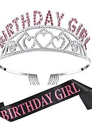 cheap -1 Piece Natural Crystal Rainbow Crown Hair Band Bridal Headdress Party Moon Branch Hair Band Hair Comb
