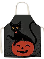 cheap -Halloween Apron Trick or Treat Aprons For Men Women Chef,Kitchen Cooking Grilling Apron Bib Apron With Adjustable Neck Strap,Pumpkin Skull Bat Spdier Creative Colorful Design