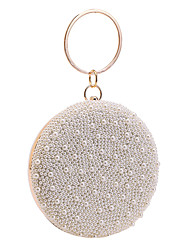 cheap -Women's Bags Polyester Evening Bag Pearls Chain Party / Evening Date Chain Bag Champagne Beige