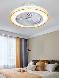 cheap -LED Ceiling Fan Light 50 cm Dimmable Ceiling Fan Metal Artistic Style Vintage Style Classic Painted Finishes LED Modern 220-240V