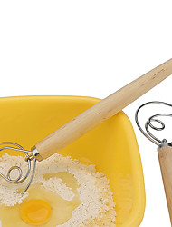 cheap -Premium Danish Dough Whisk - Whisk With Stainless Steel Ring - Danish Whisk For Bread, Pastry Or Pizza Dough - Baking Tool Alternative To A Blender, Mixer Or Hook