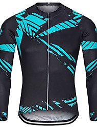 cheap -21Grams Men's Long Sleeve Cycling Jersey Spandex Black Bike Top Mountain Bike MTB Road Bike Cycling Quick Dry Moisture Wicking Sports Clothing Apparel / Stretchy / Athleisure