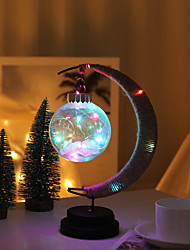 cheap -Moon Decoration Light LED Night Light Color-Changing Decoration Romantic Gift Ramadan Festival Christmas AAA Batteries Powered