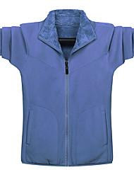 cheap -Men's Jacket Daily Winter Regular Coat Regular Fit Thermal Warm Warm Casual Jacket Long Sleeve Solid Color Pocket Blue Dark Grey Black