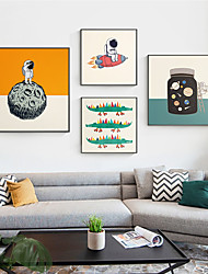 cheap -Wall Art Canvas Prints Painting Artwork Picture Cartoon Nursery Space Home Decoration Decor Rolled Canvas No Frame Unframed Unstretched